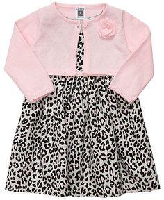 Carter's Baby Set, Baby Girls Animal-Print Dress and Cardigan Now $21.00