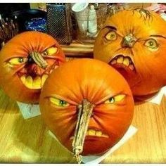 Wish I was talented enough to do this! Awesome painted pumpkins!