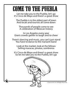 Cinco de mayo poem! Few spanish words to teach