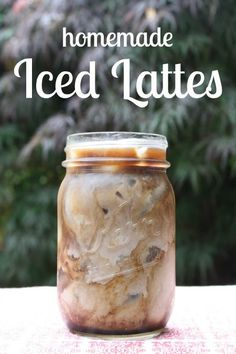 Homemade Iced Lattes and Mochas. This is NOT a recipe for iced coffee. This is for homemade fancy espresso drinks -- sugar, milk, and all!
