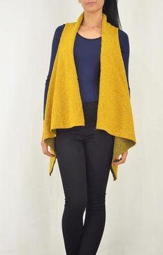 Γυναικείο γιλέκο μάλλινο GILE-0338-ye Sweaters, Fashion, Moda, Fashion Styles, Sweater, Fashion Illustrations, Sweatshirts, Pullover Sweaters, Pullover