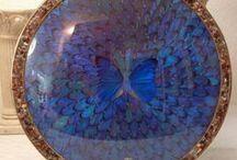 butterfly wing art plate - Google Search