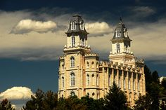 Manti Temple, Summer Clouds