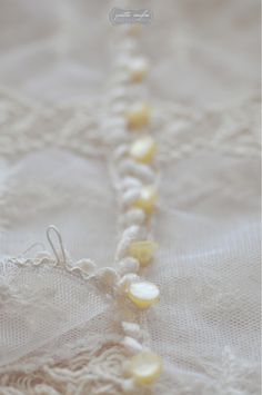 Vintage Lace Blouse Details/ Mother of Pearl Buttons