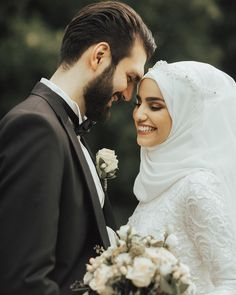 Islamic wedding wishes ideas Muslim Couple Photography, Outdoor Wedding Photography, Wedding Photography Styles, Bridal Photography, Photography Ideas, Photography Portraits, Muslim Wedding Dresses, Muslim Brides, Muslim Couples