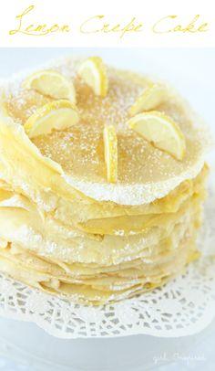 Lemon Crepe Cake Recipe from @Stef (Girl. Inspired.) | #yum #livelovebake