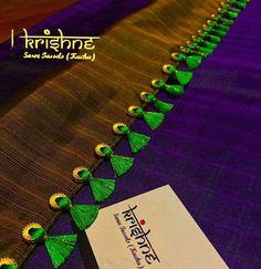 Dressing accesaries Saree Tassels Designs, Saree Kuchu Designs, Saree Accessories, Saree Border, Blouse Neck, Saree Collection, Elegant Saree, Saree Dress, Silk Sarees