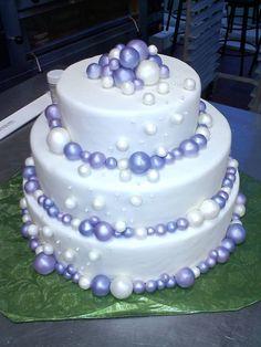 Wedding cake I made for class