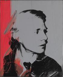 Andy Warhol 'Self-Portrait', 1978. Acrylic paint and silkscreen on canvas 40x33cm