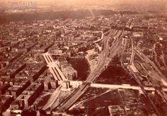 Potsdamer Güterbahnhof und Anhalter Bahnhof, fotografiert aus südlicher Richtung ca 1884-Die Buelowstrasse mit Doppel Baumreihe sieht schoen breit aus)