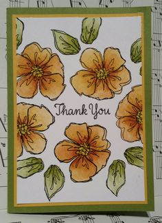 Stampin with Karen Spreckley - Stampin Up Penned and Painted