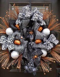 Elegant Halloween Wreaths Witch Wreath Door Decor by LuxeWreaths, $259.00