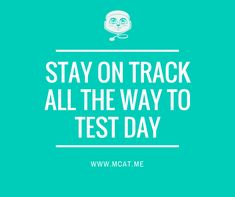 Organize your MCAT prep and track your progress with MCAT.me!
