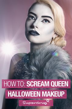 Add some glitz and glam to your Halloween style with our old school Hollywood Scream Queen look. Follow our simple steps to get the look.