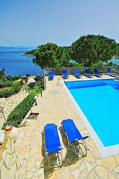 Paxi (Paxos) villa rental - Relax by the pool