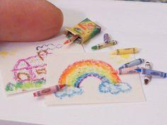 Miniature Dollhouse Crayon Set