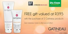 """FREE Melatogenine Cleansing Cream or Peeling Expert Microdermabrasion Scrub when you buy 2 Gatineau products. Beauty Fair, Free Gifts, Cleanser, Fragrance, Skin Care, Cream, Products, Creme Caramel, Promotional Giveaways"