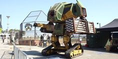 This American mega robot was built to fight another giant robot from Japan. MegaBots founders Gui Cavalcanti and Matt Oehrlein created the first mech robot built in America. It may battle a robot from Suidobashi Heavy Industry in...
