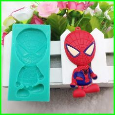 super spider hero Fondant Cake Decorating Tools 3d silicone mould cutter cookie sugarcraft wedding decoration Kitchen Accessorie