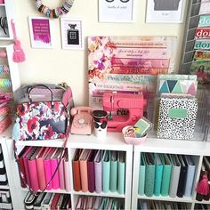 """#workspacewednesday Next week I will be posting photos of my new craft room organization and my Christmas tree decoration. Would you also like to see a blog post so I can share where I purchased specific items? Let me know in the comments. My blog is www.hautepinkfluff.com and I do have a lot of products that I use linked under the """"Products I Use"""" tab."""