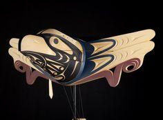 Raven Stealing the Light from Seagull - Transformation Mask (closed) - Luke Marston (Coast Salish)
