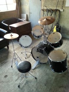 CB drum set with Meinl cymbals