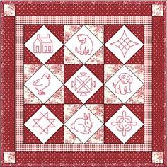This and That in Redwork Pattern from ConnectingThreads.com Quilting