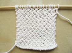 Diagonal Basketweave Knitting Pattern