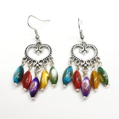 Chandelier Heart Earrings