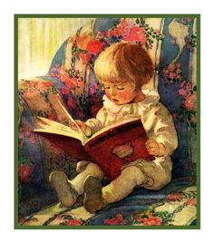Waiting For Story Time by Jessie Willcox Smith Counted Cross Stitch or Counted Needlepoint Pattern