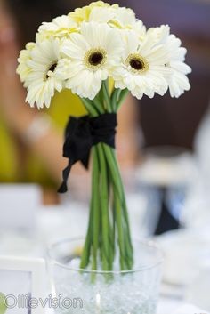 flower centre piece on table