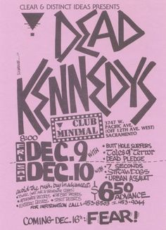 Amazing Punk Flyers & Posters from The 80s - Dead Kennedys