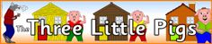The Three Little Pigs display banner (SB2317) - SparkleBox