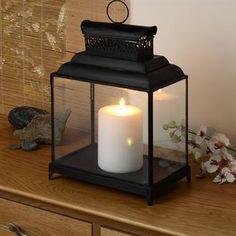 Candle fireplace - single lantern instead?