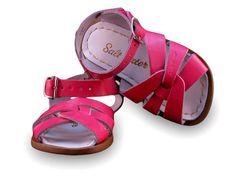 Kids Saltwater Sandals - Fuchsia Patent #saltwaterhoy #Sandals