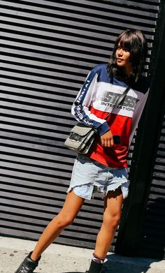 Binx Walton in Levi's shorts by Phil Oh for vogue.com / NYFW ss16