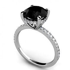 Lascel - 4.00ct Black Diamond Engagement Ring >SAVE $2,000