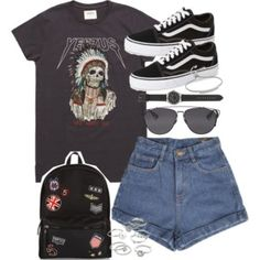 Outfit for summer with shorts and vans