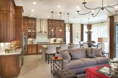A distinguished kitchen makes the Marcel model home stand out.
