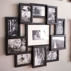 With this awesome collage frame, you won't have to choose one picture you want to display — you'll have to choose 11. Good thing you took that decision-making course. Wall Collage Picture Frames, Wall Collage Decor, Family Wall Decor, Hanging Picture Frames, Picture Wall, Frames On Wall, Collage Photo, Collage Ideas, Frame Collages