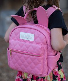 Love this Pink Quilted Rabbit Ear Backpack on #zulily! #zulilyfinds