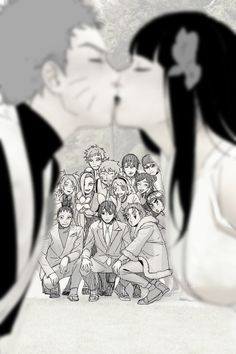 NaruHina wedding!! Aww and all the friends came to support ❤️