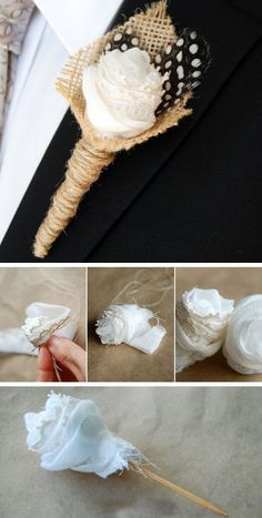 Wedding Boutonniere with Feathers | Click for 18 DIY Rustic Wedding Ideas on a Budget | DIY Rustic Wedding Decor Ideas