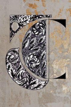 Hand Drawn Logo Design Inspiration Watercolor Artwork, Floral Watercolor, Watercolour, Hand Drawn Lettering, Lettering Design, Creative Logo, Creative Design, Ornament Drawing, Vintage Logo Design