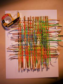 Paper weaving. Consider making paper beads from a base of hand woven paper, or from hand painted, hand decorated, or otherwise altered paper