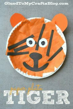 Paper Plate Tiger - Kid Craft como zoo other project & How To Make A Put Me In The Zoo Paper Plate Craft - | Paper plate ...