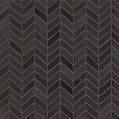 Inside fireplace? Absolute Black Granite Chevron Mosaic Polished Tiles (Box of 10 Sheets)