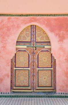 Tunisia pink door   follow @shophesby for more gypset boho modern lifestyle + interior inspiration