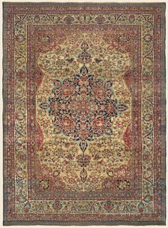 """LAVER KIRMAN, 11' 4"""" x 15' 8"""" — Late 19th Century, Southeast Persian Antique Rug - Claremont Rug Company  Click to learn more about this rug."""