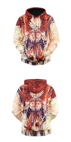2017 Waidx Sweatshirts Dragon Ball Z Goku Super Saiyan SS 3D Print Hoody Front Pocket Outerwear Unisex Coat Autumn Winter